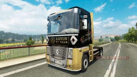 F1 Lotus skin for Renault truck for Euro Truck Simulator 2