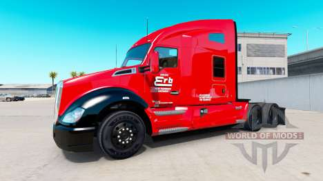 Erb Transport skin for Kenworth tractor for American Truck Simulator