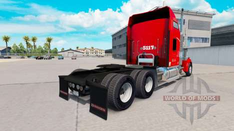 Heartland Express skin [red] truck Kenworth for American Truck Simulator