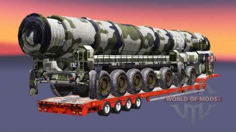 Semi carrying military equipment v1.4.1 for Euro Truck Simulator 2