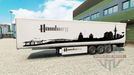 The skin Hamburg on the trailer for Euro Truck Simulator 2