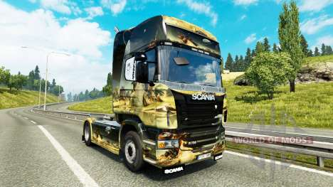 Space Scene skin for Scania truck for Euro Truck Simulator 2