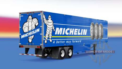Michelin skin on the reefer trailer for American Truck Simulator