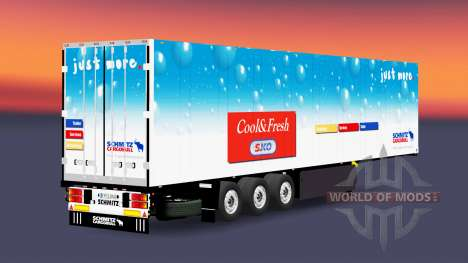 The refrigerated semi-trailer Schmitz Cargobull for Euro Truck Simulator 2