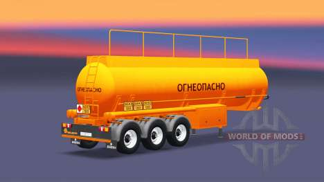 Tank semi-trailer BCM-35 for Euro Truck Simulator 2