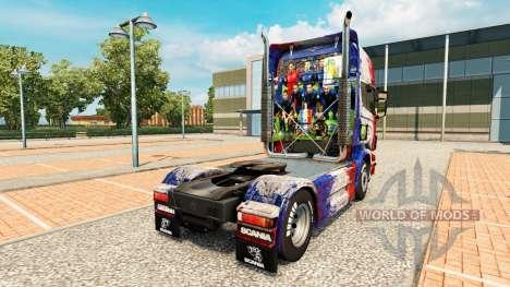 Skin France Copa 2014 for Scania truck for Euro Truck Simulator 2
