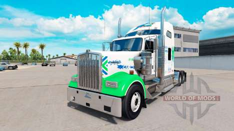 Skin All Star FJ Service on the truck Kenworth W for American Truck Simulator