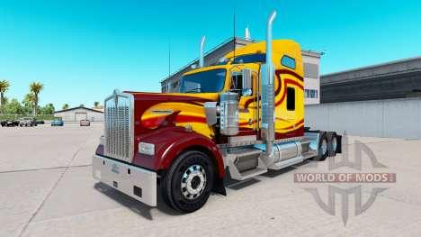 Skin Survivor truck Kenworth W900 for American Truck Simulator