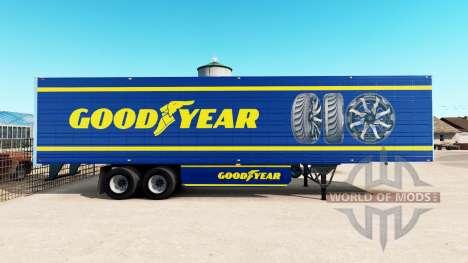 Skin Goodyear on refrigerated semi-trailer for American Truck Simulator