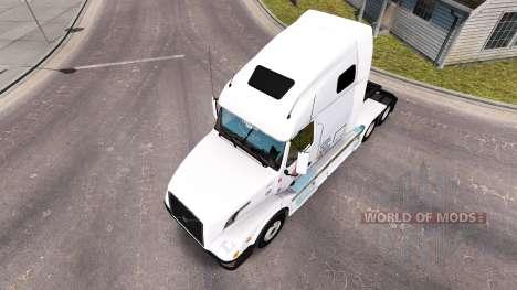 Daybreak Express skin for Volvo truck VNL 670 for American Truck Simulator