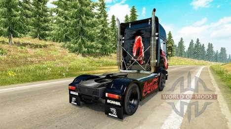Skin Coca-Cola tractor Scania for Euro Truck Simulator 2