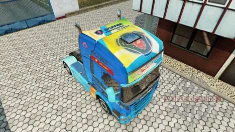 Skin Need For Speed Hot Pursuit on tractor Scani for Euro Truck Simulator 2
