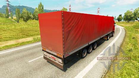 Curtain side semitrailer Kogel for Euro Truck Simulator 2