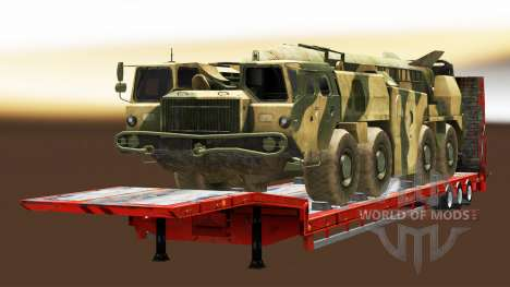 Semi carrying military equipment v1.4.1 for Euro Truck Simulator 2