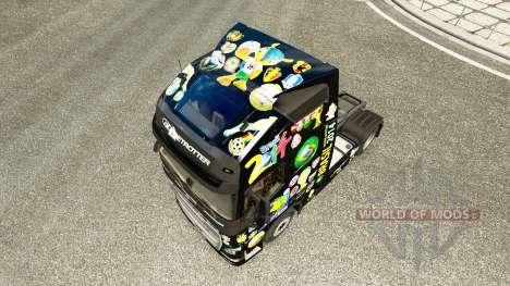 Brasil 2014 skin for Volvo truck for Euro Truck Simulator 2