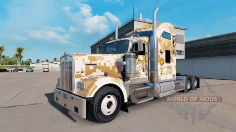 Skin Marines Combat Engineers of the Kenworth tr for American Truck Simulator