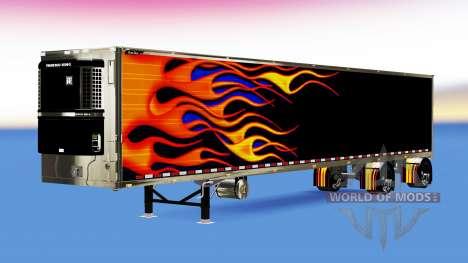 Custom refrigerated trailer for American Truck Simulator