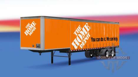 Curtain semitrailer Home Depot for American Truck Simulator