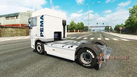 The Pema skin for the DAF truck for Euro Truck Simulator 2