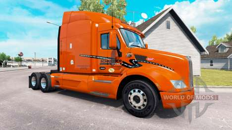 Skin Schneider National on truck Peterbilt for American Truck Simulator