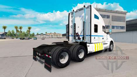 Skin Transport Quebec on Kenworth tractor for American Truck Simulator