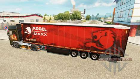 Curtain semi-trailer Kogel maxx for Euro Truck Simulator 2