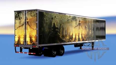 All-metal semitrailer Pumpkin for American Truck Simulator