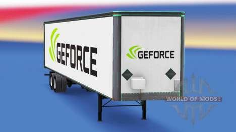 Skin Nvidia GeForce on the trailer for American Truck Simulator
