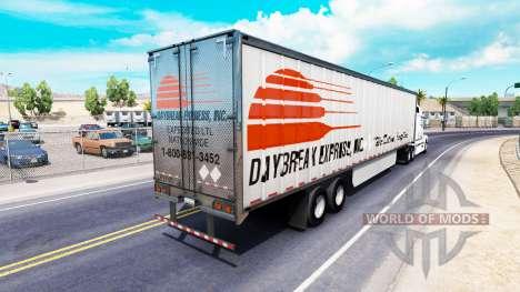 Skin Daybreak Express on the trailer for American Truck Simulator