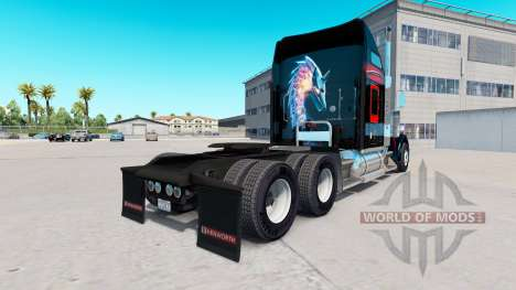 Skin Bitdefender tractor Kenworth W900 for American Truck Simulator