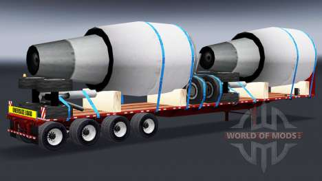 The semitrailer-platform with engines for American Truck Simulator