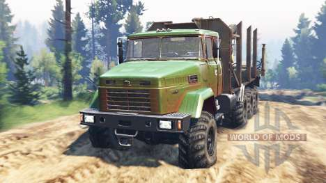 KrAZ-7140 v2.0 for Spin Tires