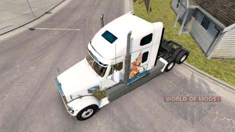 Skin Anime girls fighting for a Freightliner tra for American Truck Simulator