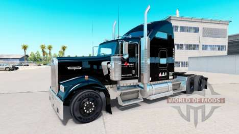 Skin Stevens Transport on truck Kenworth W900 for American Truck Simulator