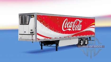 Skin Coca-Cola refrigerated semi-trailer for American Truck Simulator