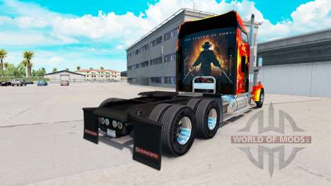 Zorro skin for the Kenworth W900 tractor for American Truck Simulator