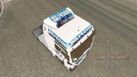 Skin EC Kassel Huskies on tractor MAN for Euro Truck Simulator 2