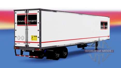 Skin Stevens Transport on semi-trailer for American Truck Simulator