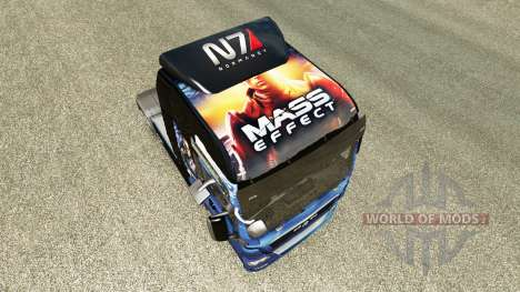 Skin Mass Effect for tractor MAN for Euro Truck Simulator 2