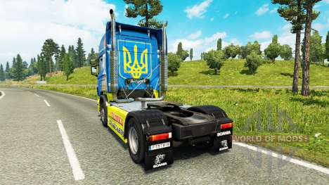 Tomka skin for Scania truck for Euro Truck Simulator 2