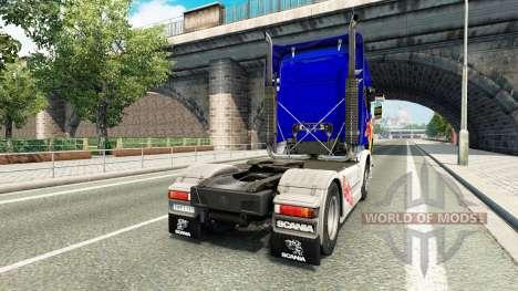 Skin Red Bull v2.0 truck Scania for Euro Truck Simulator 2