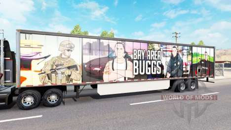 Skin Bay Area Buggs on the trailer for American Truck Simulator