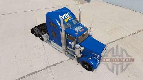 Skin YRC Freight on the truck Kenworth W900 for American Truck Simulator