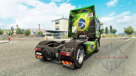 Skin Brasil 2014 for tractor Renault for Euro Truck Simulator 2