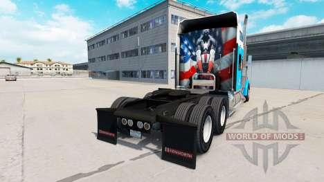 Skin Captain America on the truck Kenworth W900 for American Truck Simulator