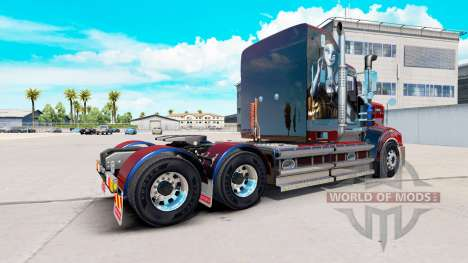 Skin Sally on tractor Kenworth T908 for American Truck Simulator