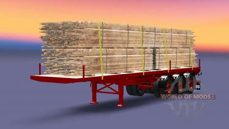 The semitrailer-platform with load boards for Euro Truck Simulator 2