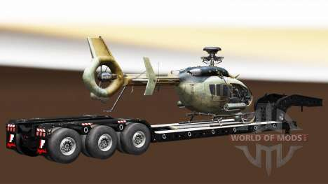 Semi carrying military equipment v1.4 for Euro Truck Simulator 2