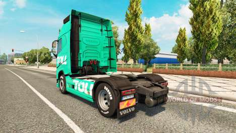 Toll skin for Volvo truck for Euro Truck Simulator 2