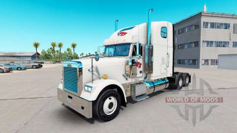 Skin FTI Transport on tractor Freightliner Class for American Truck Simulator
